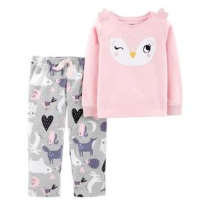 NWT Carter's Toddler 2-Piece Owl Fleece Pajama Set
